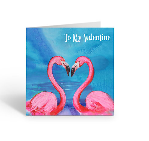 WHOLESALE PACK OF 6 Valentine / Flamingos - Z301