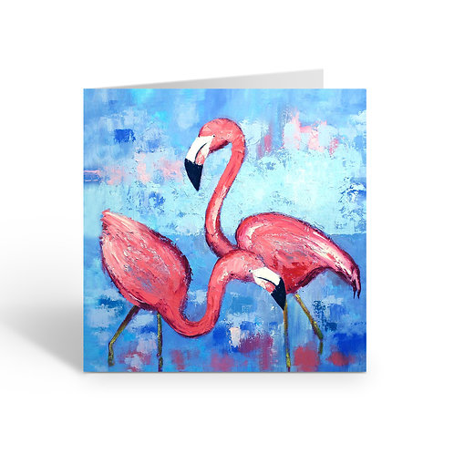 WHOLESALE PACK OF 6 Wading Flamingos - J052