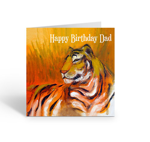 WHOLESALE PACK OF 6 Happy Birthday Dad / Tiger - Z307