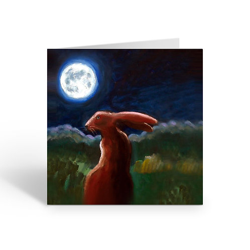 WHOLESALE PACK OF 6 Moonlight Hare -W049