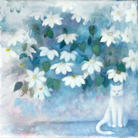 Cecil under the Clematis  SOLD