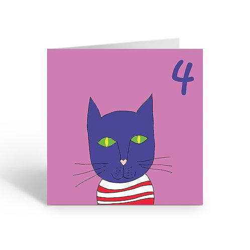 Carnival Cat - card