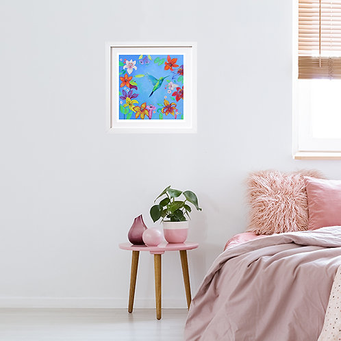 Blue Hummingbird - print