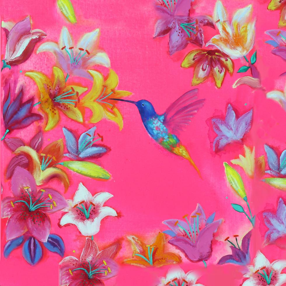 Spring Flowers - Oil on Canvas          50 x 50cm         £245