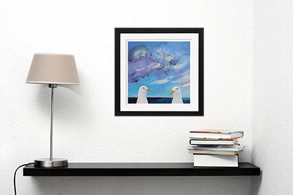Seagulls - print