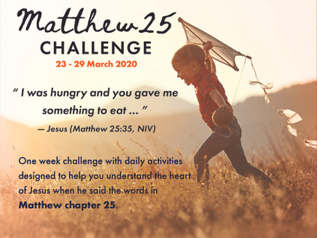 MATTHEW 25 CHALLENGE