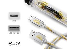 Bridgetech Straight Cable Micro - White