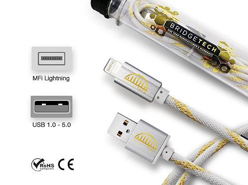 Bridgetech MFI Lightning (IOS) Super Cable - White