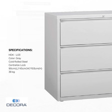3 Drawer Filing Cabinet Lateral