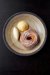 Chouxnut, lemon curd, clotted cream high