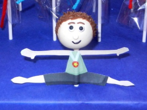 Gymnast Cake Pop