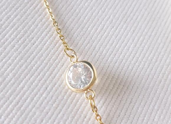 Bracelet plaqué or - Cristal