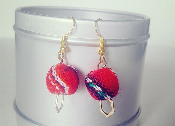 Boucles d'oreilles latina rouge & colorées