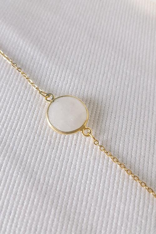 Bracelet plaqué or - Pierre de Lune