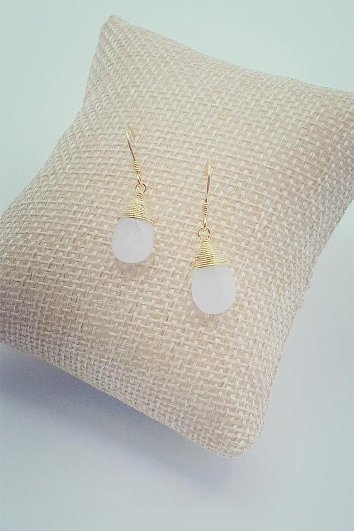 boucles d'oreilles - pierre de jade