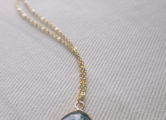 Collier plaqué or - Labradorite