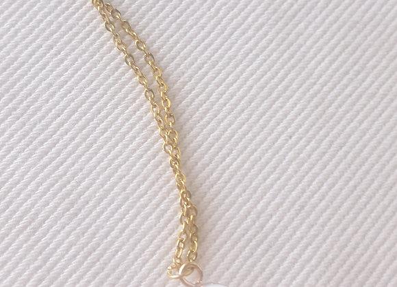 Collier plaqué or - Perles d'eau douce