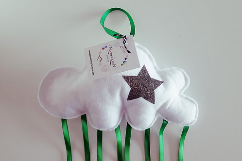 Mobile suspension nuage blanc et vert
