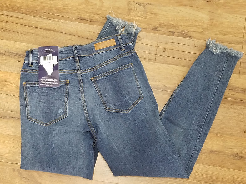 Blue age brand frayed leg jeans
