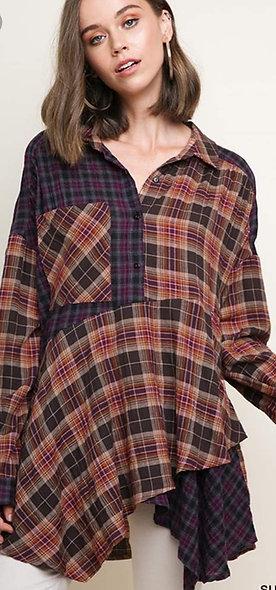 2tone thin flannels ruffled bottom