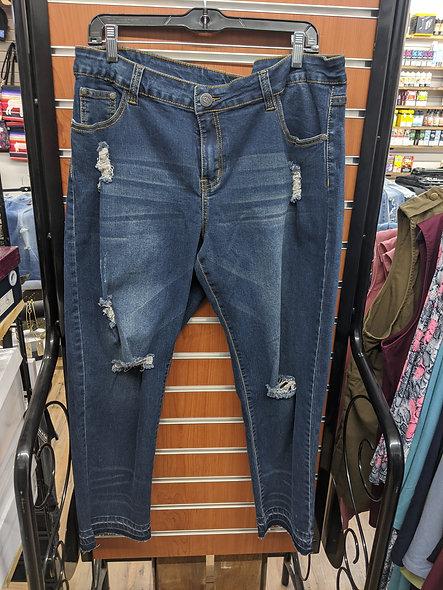 Rock & Royal dark distressed jeans