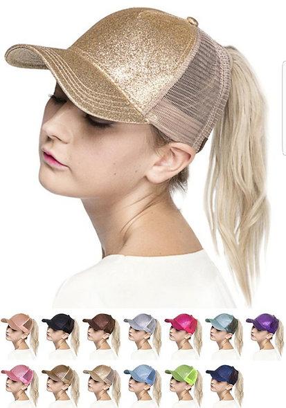 CC glitterbomb ponytail cap