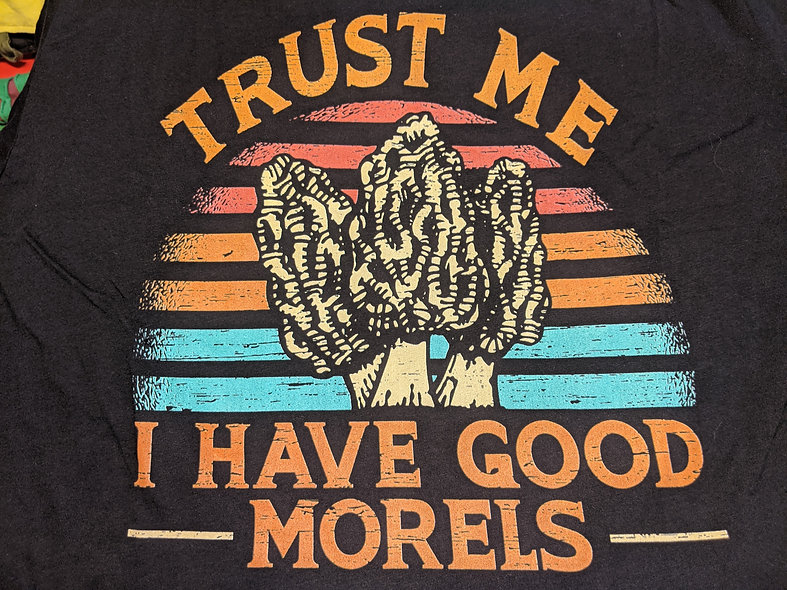Trust Me I have good Morells black bella canvas Tee