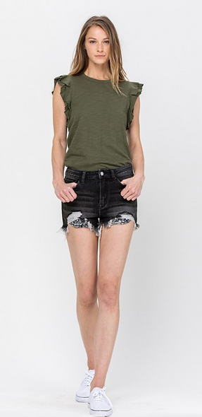 "Flying Monkey VERVET denim ""Laurie"" shorts"
