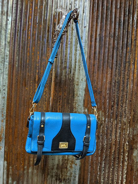 Eralu teal/black handbag