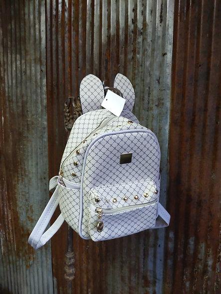 X MIXIUXIU beige small back pack