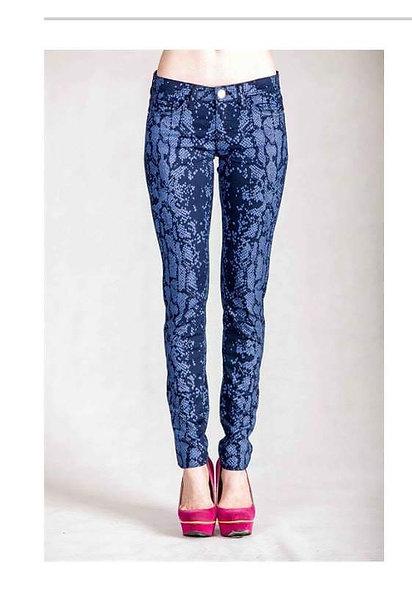 Snake skin stretchy jeans
