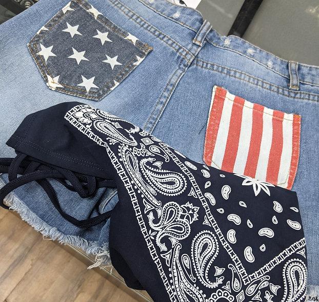 Cezele Americana denim shorts