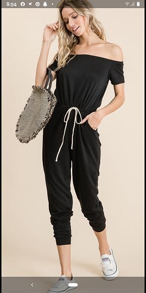Lovely Melody black jumpsuit