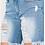 Thumbnail: American Bazi High Waist frayed hem shorts