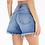 "Thumbnail: Kan Can ""Clarice""  medium distressed shorts with frayed hem"