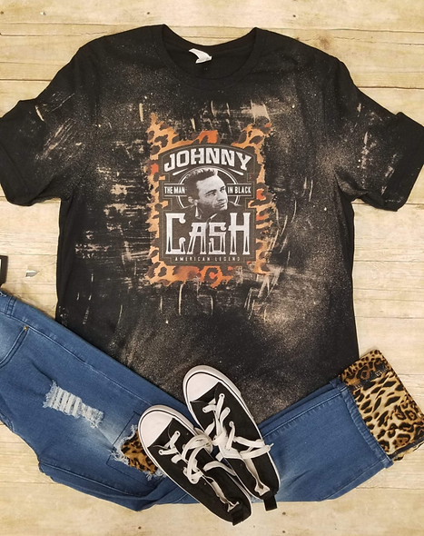 Johnny Cash bleached and dyed