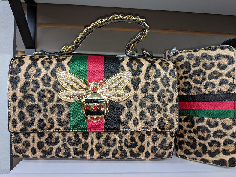Calin Collection leopard with matching wallet