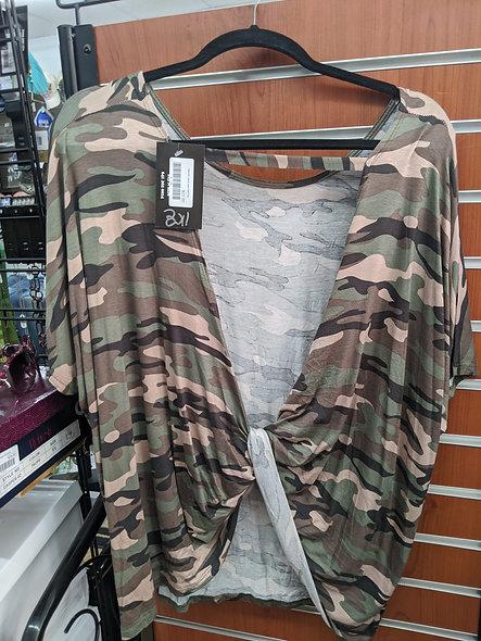Twist open back army