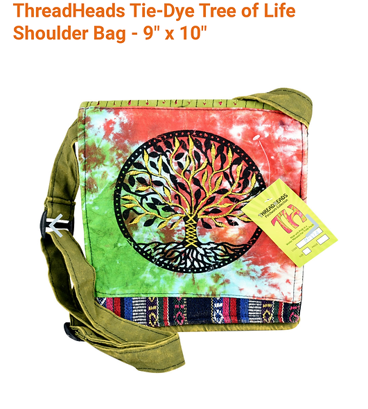 Thread heads 9 x 10 tree of life shoulder bag