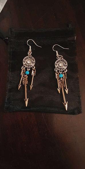 Shotgun shell dangle earrings
