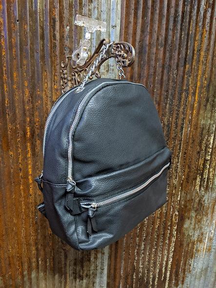 Medium black back pack