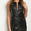 Thumbnail: HAHA black fullzip dress / vest