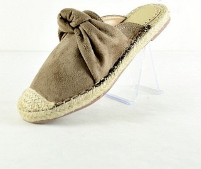 Chase & Chloe suede slides black OR taupe