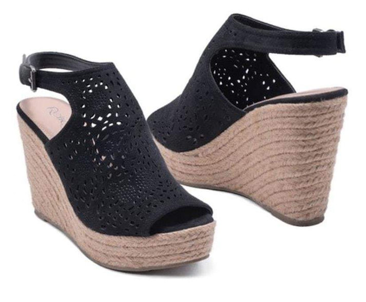 Refresh open toe wedges