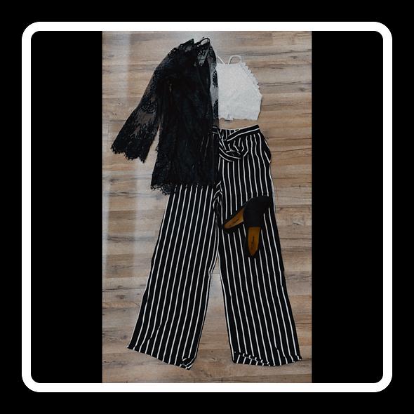 Sheer stripe slacks