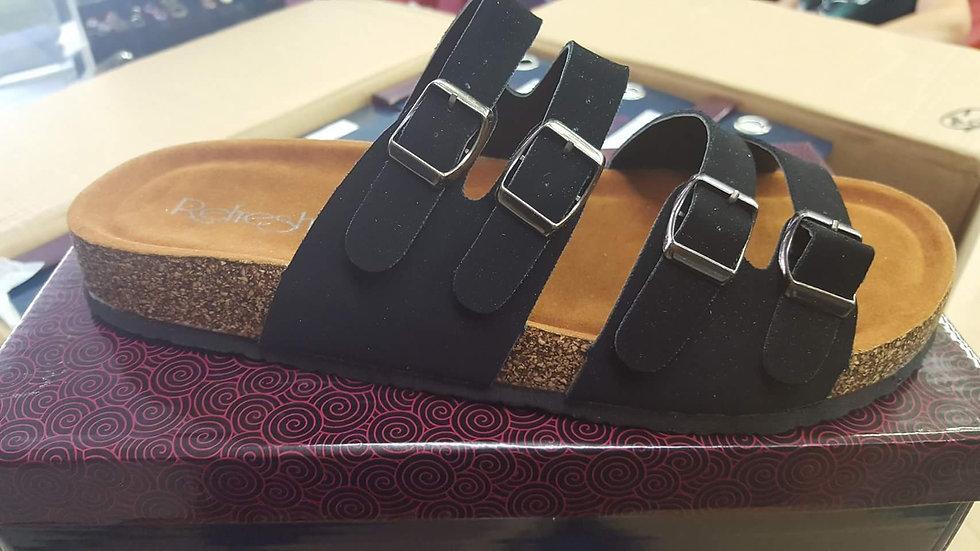 Black 4 strap buckle slides