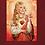 Thumbnail: Saint Dolly on burgundy bella canvas tee