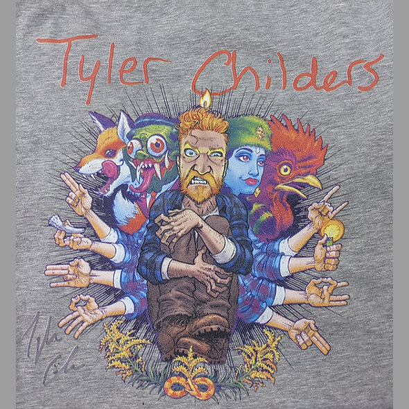 Tyler Childers on bella canvas tee