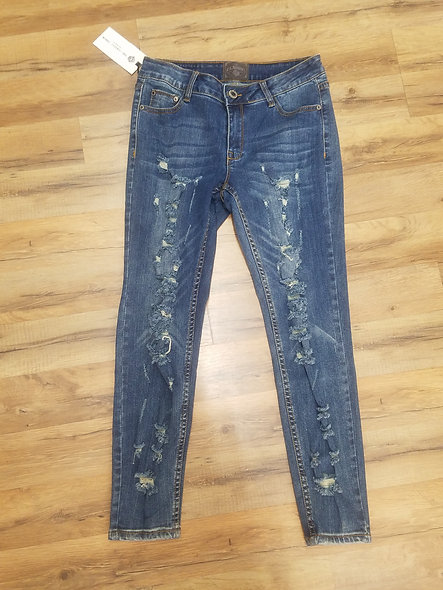 Classic brand destroyed jeans