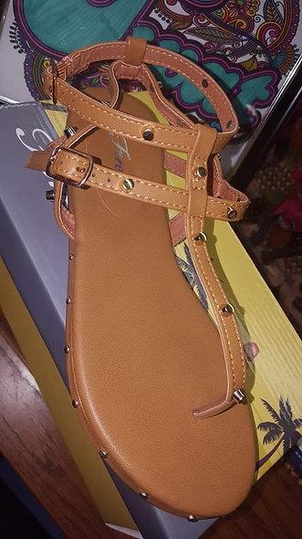 Camel gladiator sandal